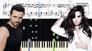 Luis Fonsi Demi Lovato chame La Culpa - Piano Tutorial SHEETS.mp3