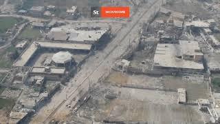Танки  сирийской армии штурмуют Думу под Дамаском - видео с БПЛА