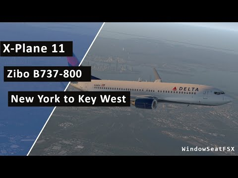 FSX HD Project Airbus 320 DELTA 2453 New York LaGuardia to Key West