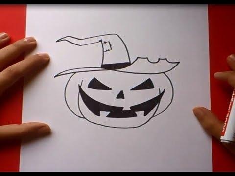 Como dibujar una calabaza paso a paso 2  How to draw a pumpkin 2