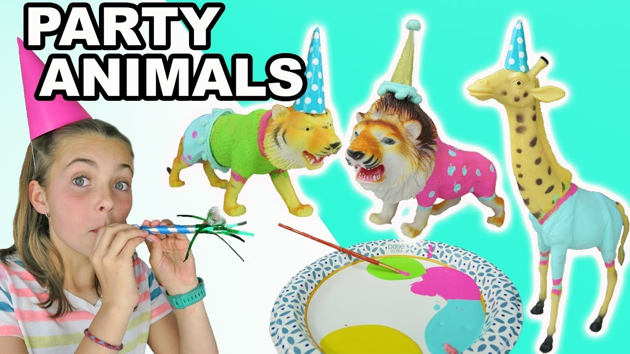 BIRTHDAY PARTY ANIMALS Craft For Kids