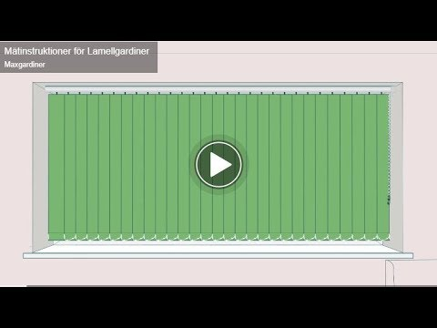 Mätinstruktioner för Lamellgardiner