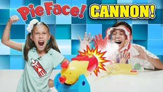 PIE FACE CANNON CHALLENGE!!! Get Blasted with Whipped Cream!