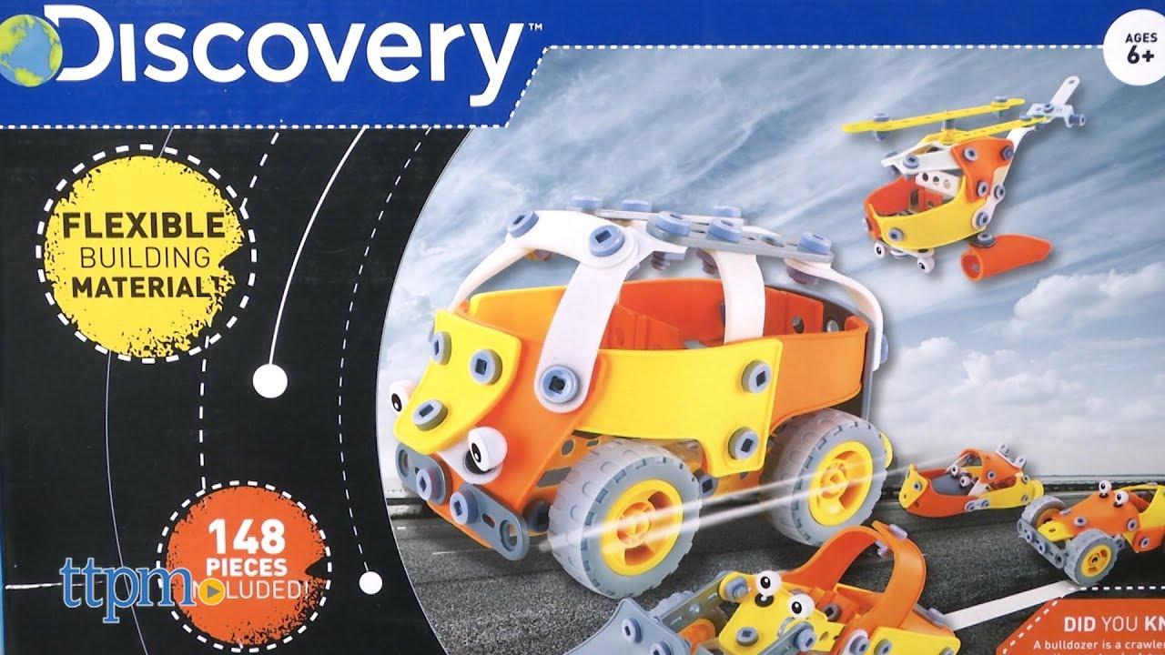 148 Piece Discovery Kids Build and Play Flexi 5-in-1 Educational Puzzle Kit