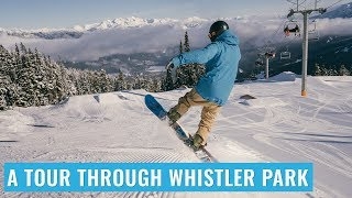 Snowboard - A Tour Through Whistler Terrain Park On A Snowboard
