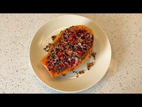 Papaya Boat Breakfast   Khatri Nutrition