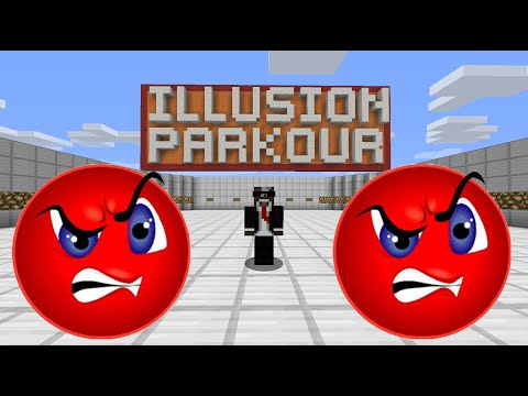 HE'S SO MAD HE RAGE QUITS!! ( Minecraft Illusion Parkour w/ Preston, Kenny and TheCampingRusher )