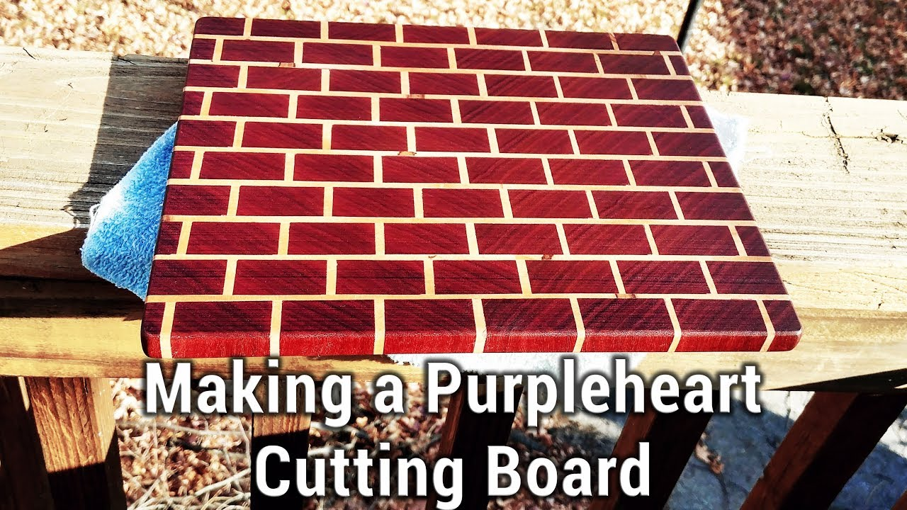 making a purpleheart brick pattern cutting board youtube