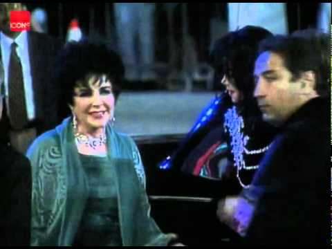 Michael Jackson And Elizabeth Taylor Arriving At The AIDS Charity Event