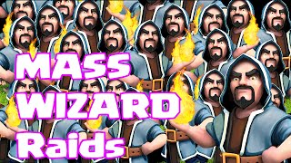 """Clash of clans All WIZARD RAID"" (Farming with the pumklin)"