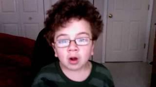 strange kid singing