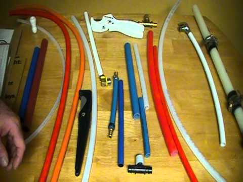 Different types of pex pipe the cost the tools required for House water pipes types