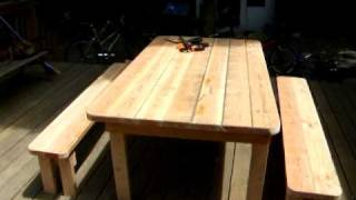 Picnic Table with detatched seats
