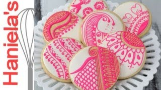 How To Make Pretty Henna Cookies, Repetitive Patterns