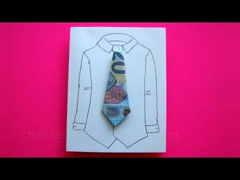 lustige geldgeschenke basteln geldschein falten krawatte. Black Bedroom Furniture Sets. Home Design Ideas