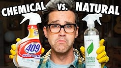 Name Brand vs. Natural Cleaning Product Test