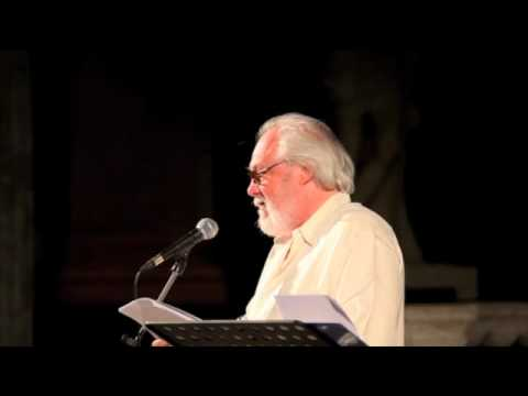 Peter Sinfield reading Epitaph at the Genoa Poetry Festival