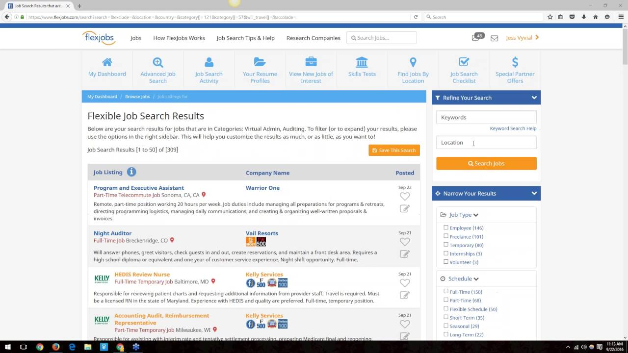webinar  flexjobs search and resume profile creation