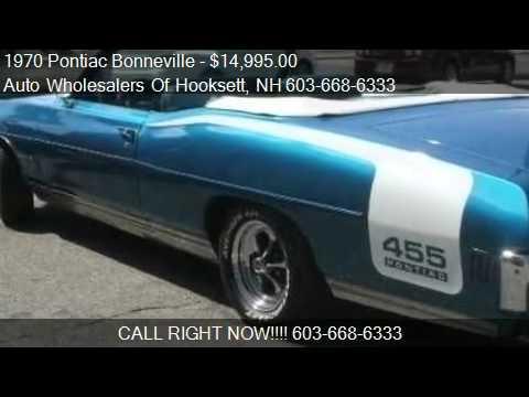 4 Door Convertible >> 1970 Pontiac Bonneville 455 - for sale in Hooksett, NH 0310 - YouTube