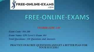 304-200 LPI Level 3 Exam 304