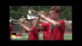 rshs silver falcon marching band on fox 2 news ksdk and kmov