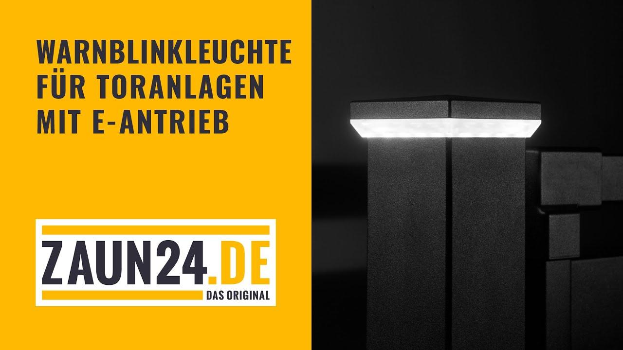 STARmin Warnblinkleuchte für zaun24 Tore mit E Antrieb