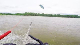 Casually kiteboarding up a river and then… | POV