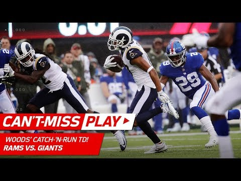Robert Woods Catches Screen Pass & Gets the TD on 3rd & 33! | Can't-Miss Play | NFL Wk 9 Highlights