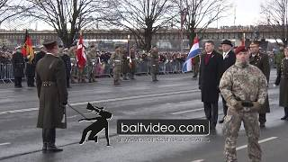 Military Parade in honor of the 100th anniversary of the republic of Latvia