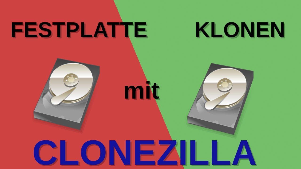Festplatte Klonen Clonezilla