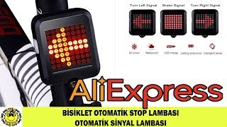 Bisiklet Stop Lambası Otomatik/Sağa Sola Otomatik Sinyal