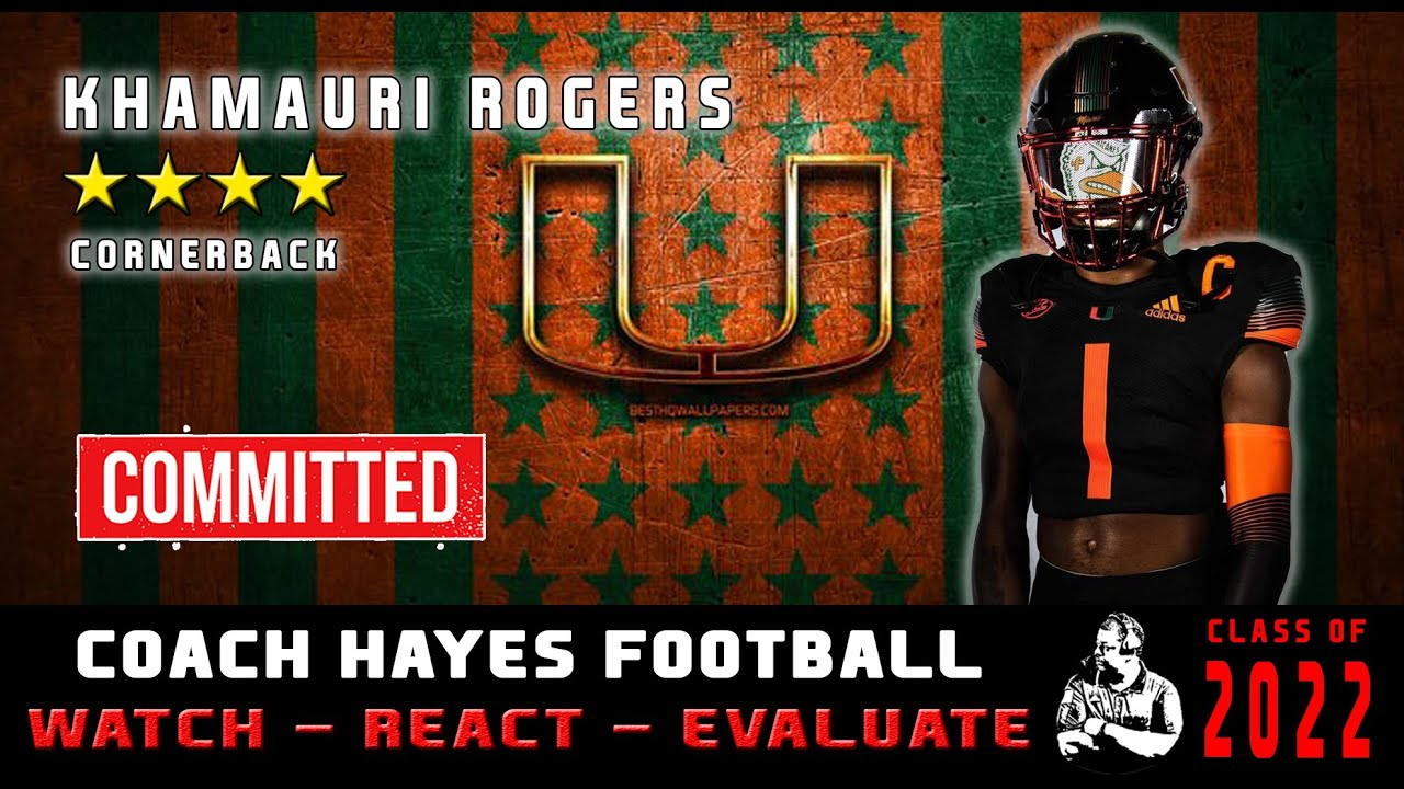 CB Khamauri Rogers Highlights   One of the top DB's is committed to the Miami Hurricanes (WRE)