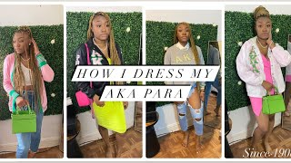 HOW I DRESS MY AKA PARA | 4 LOOKS FOR ALL GREEK EVENTS | Deja Washington