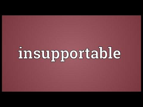 Header of insupportable