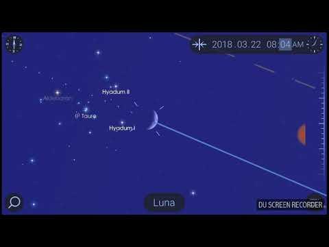 The MOON approaching ALDEBARAN (ALPHA TAURI) in TAURUS