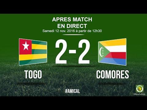DIRECT APRES MATCH COMORES - TOGO (2-2)