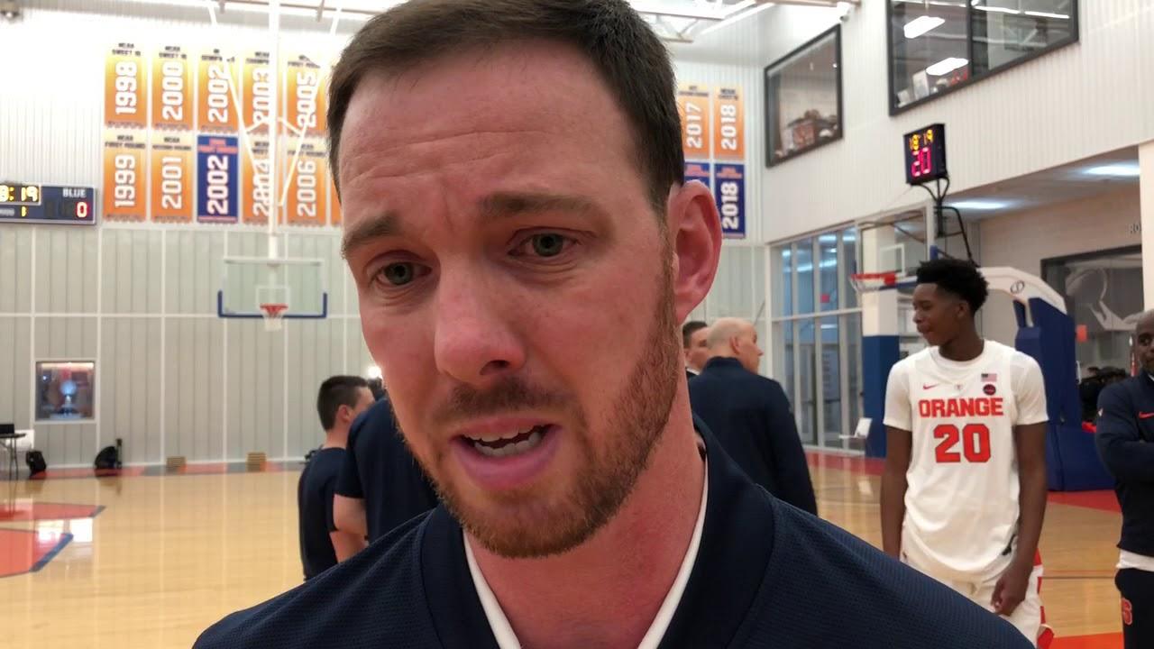 Syracuse Basketball Media Day Men S Assistant Coach Gerry Mcnamara