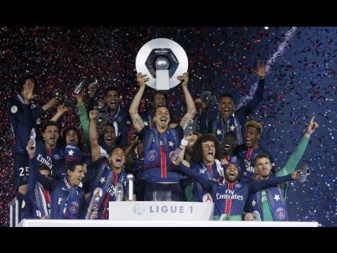 PSG : Remise Du Trophée De Champion De ligue 1 HD /2016