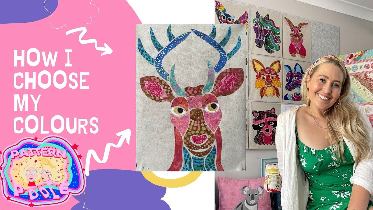 See how Alaura chooses fabric for her Mosaic Animal Applique Designs.