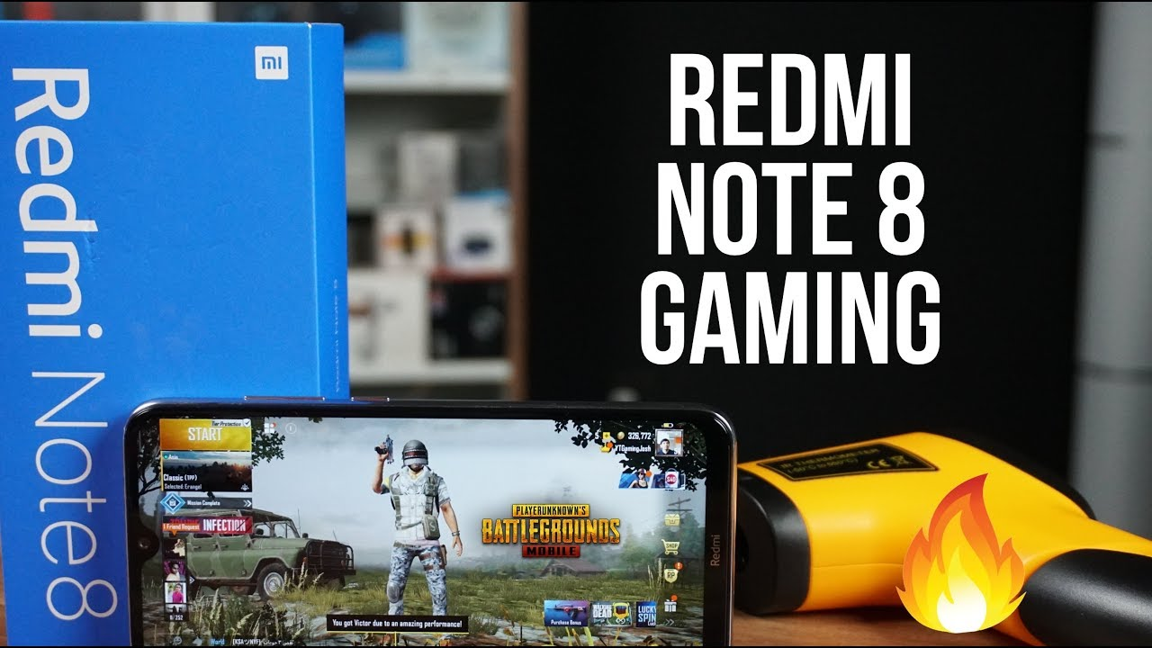 Redmi Note 8 Gaming Review, PUBG Mobile FPS Test, Heating and Battery Drain Test