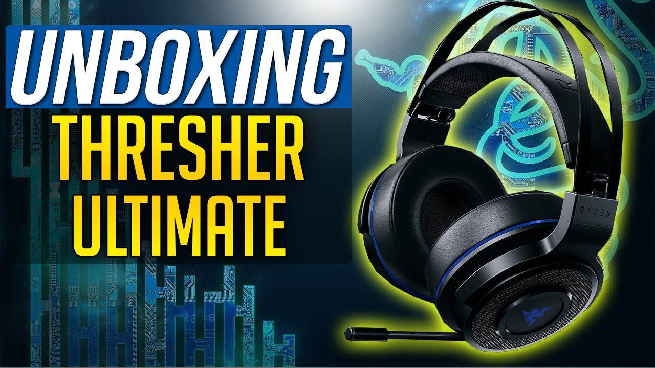 RAZER THRESHER ULTIMATE UNBOXING WIRELESS GAMING HEADSET (PS4, Xbox One)