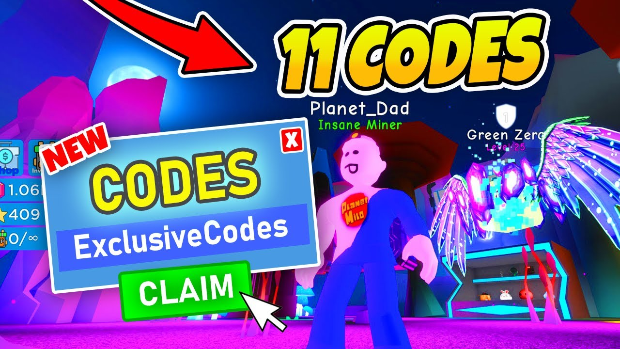 ALL NEW CODES MOON MINERS - Roblox
