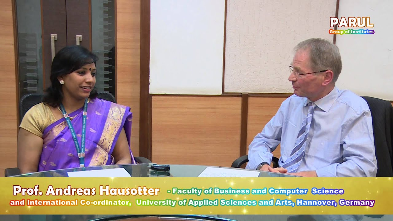 Parul Institute Prof Andreas Hausotter Youtube