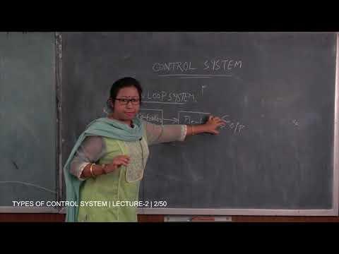 CONTROL SYSTEM  TYPES | LECTURE - 2 | PROF. RATNA  CHAKRABORTY | Gymkhana TV |IEM