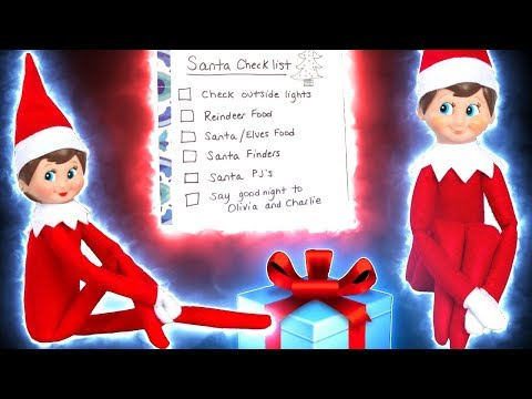 Elf on the Shelf & Santa Checklist for The Night Before Christmas Reindeer Food Santa List DavidsTV