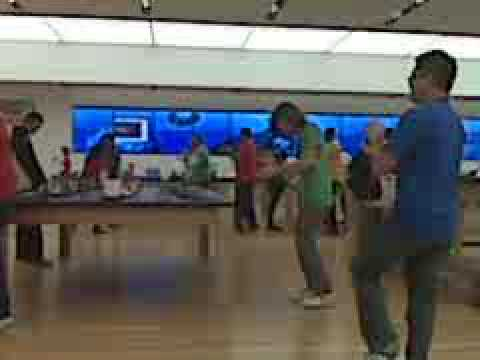 Take That Apple Microsoft Store Employees Line Dance YouTube