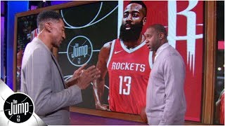 Download Scottie Pippen demonstrates how he would defend James Harden -- and Michael Jordan | The Jump: OT Mp3 and Videos