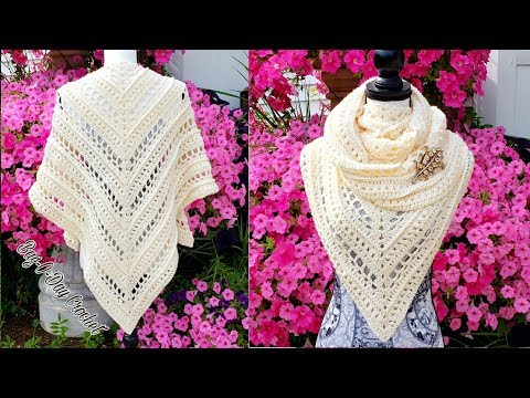 HOW TO CROCHET A LADIES SHAWL | PURE INNOCENCE | BAGODAY CROCHET TUTORIAL #503