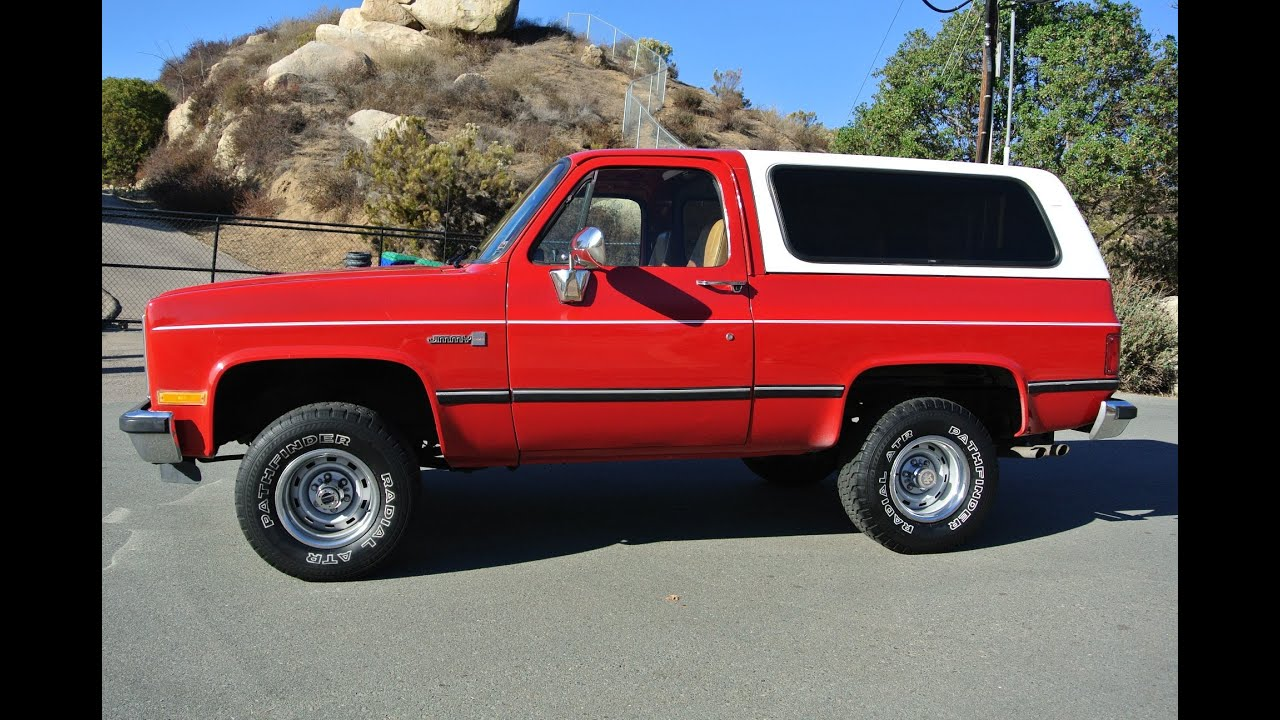 Gmc Jimmy K5 Chevrolet Blazer 4x4 350 V8 4 Speed Auto Fuel