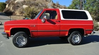GMC Jimmy K5 Chevrolet Blazer 4X4 350 V8 4 Speed Auto Fuel Injected A/C R/V Series Apple Red
